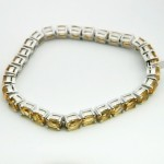 Citrine Silver Gemstone Bracelet