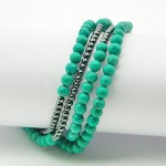 Firoza Hematite Gemstone Bracelet