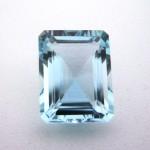 5.65 Carat  Octagon Step Natural Aquamarine Gemstone