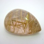 20.85 Carat Pear Cabochon Natural Rutilated quartz Gemstone