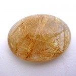 24.75 Carat Oval Cabochon Natural Rutilated quartz Gemstone