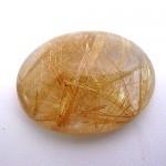 24.75 Carat Oval Cabochon Natural Rutilated quartz Gemstone