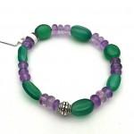 Amethyst Onyx Gemstone Bracelet