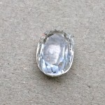 5.38 Carat Natural White Zircon Gemstone
