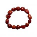 Natural Jasper Tumbled Beads Bracelet