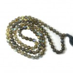 Natural  Labradorite108 Beads Japa Mala Rosary
