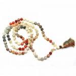 Natural Multicolor Moonstone Beads String Mala