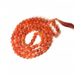 Natural Carnelian 108 Beads Japa Mala Rosary