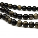 Natural Black Obsidian AAA Quality Gemstone Beads String