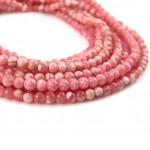 Natural Rhodochrosite AAA Quality Gemstone Beads String