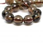 Natural Smoky Quartz Stone Beads String Mala