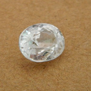5.36 Carat/ 5.95 Ratti Natural Ceylon White Zircon Gemstone