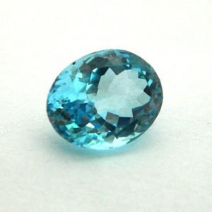 7.32 Carat/ 8.13 Ratti Natural Blue Topaz Gemstone
