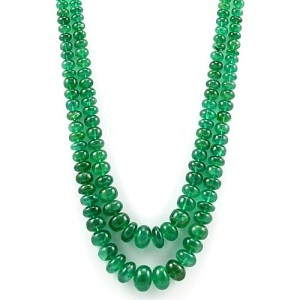Best Quality Natural Zambia Emerald 2 Line String