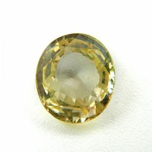 5.42 Carat/ 6.02 Ratti Natural Ceylon Yellow Sapphire (Pukhraj) Gemstone
