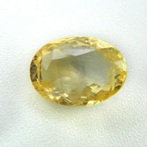 5.79 Carat/ 6.42 Ratti Natural Ceylon Yellow Sapphire (Pukhraj) Gemstone