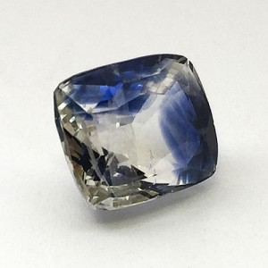 7.68 Carat Natural Parti Colored Sapphire (Neelambari) Gemstone
