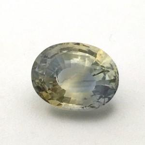 8.02 Carat Natural Parti Colored Sapphire (Pitambari) Gemstone