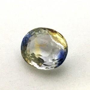 4.14 Carat Natural Parti Colored Sapphire (Pitambari) Gemstone