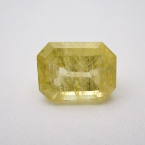 6.98 Carat/ 7.74 Ratti Natural Ceylon Yellow Sapphire (Pukhraj) Gemstone