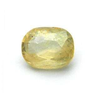 7.02 Carat/ 7.80 Ratti Natural Ceylon Yellow Sapphire Gemstone