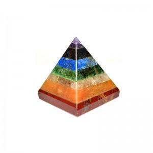 Natural Seven Chakra Crystal Pyramid