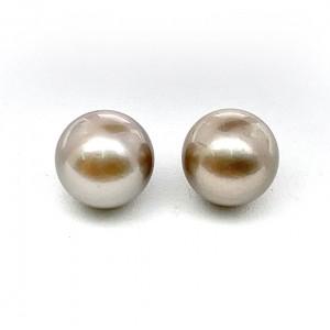 7.09 & 7.12 Carat Tahitian Loose Copper Pearls (Moti) Pair