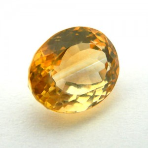5.84 Carat/ 6.48 Ratti Natural Citrine (Sunela)  Gemstone