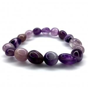 Natural Amethyst Tumbled Beads Bracelet