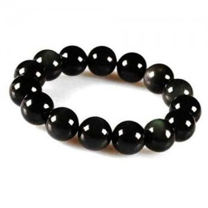 Natural Black Obsidian Gemstone Bracelet