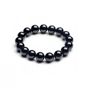 Natural Black Agate (Hakik) Gemstone Bracelet