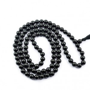 Natural Black Obsidian 108 Beads Japa Mala Rosary