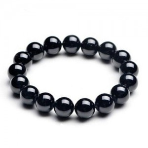 Natural Black Tourmaline Gemstone Bracelet