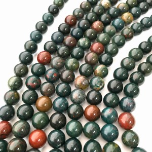 Natural Blood Stone 108 Beads Japa Mala Rosary