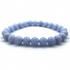Natural Blue Lace Agate Bracelet