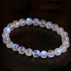 Natural Blue Rainbow Moonstone Bracelet