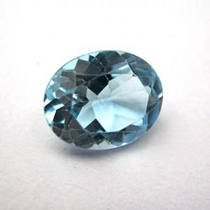 3.12 Carat/ 3.46 Ratti Natural Blue Topaz Gemstone