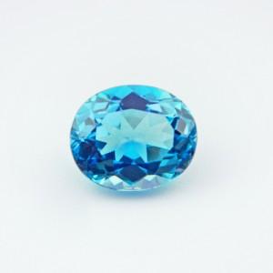 5.81 Carat/ 6.45 Ratti Natural Blue Topaz Gemstone