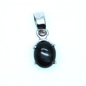 Natural Black Tourmaline Gemstone Pendant