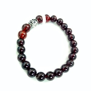 Natural Hessonite Garnet (Gomed) Gemstone Bracelet