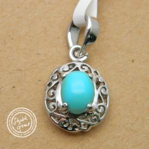 Turquoise (Firoza) Gemstone   Pendant