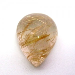 20.85 Carat  Pear Cabochon Natural Golden Rutilated quartz stone