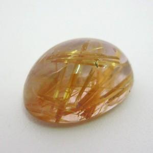 6.9 Carat  Oval Cabochon Natural Golden Rutilated quartz stone