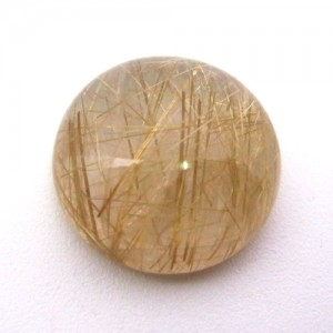 19.50 Carat  Round Cabochon Natural Golden Rutilated quartz stone