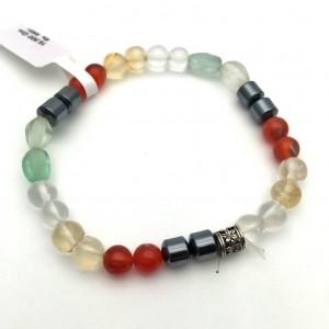 Natural Multi Color Gemstone Bracelet