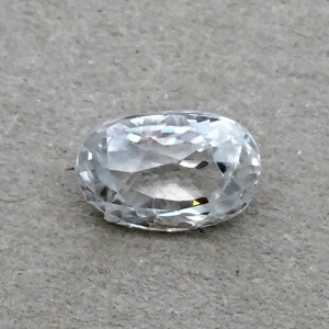 4.56 Carat/ 5.06 Ratti Natural Ceylon White Zircon Gemstone