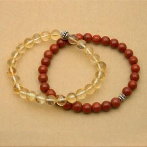 Natural Jasper & Citrine Bracelet