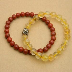 Natural Jasper & Rutilated Quartz Bracelet