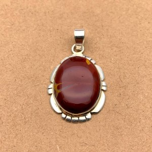 Natural Jasper Sterling Silver Pendant