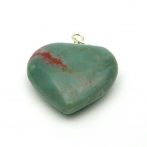 Natural Agate Heart Shape Pendant